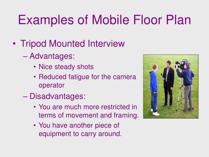 Examples of Mobile Floor Plan