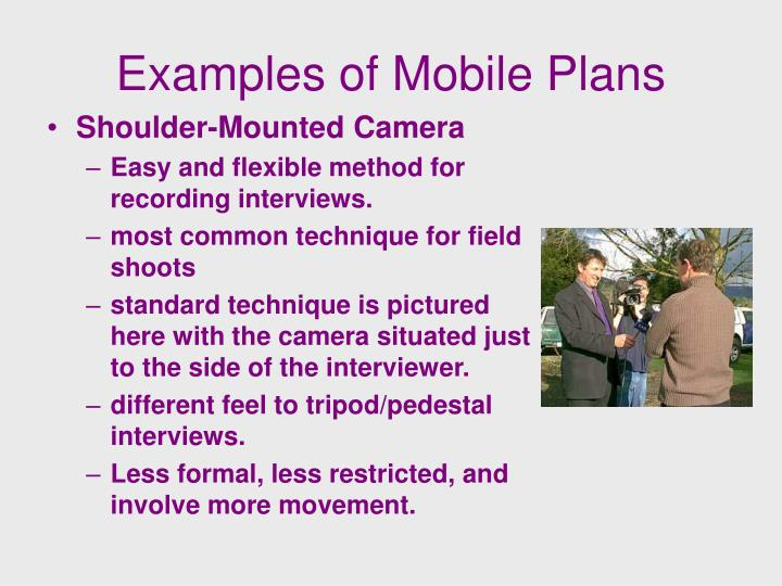 Examples of Mobile Plans