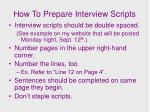 how to prepare interview scripts1