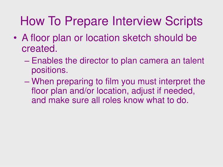 How To Prepare Interview Scripts