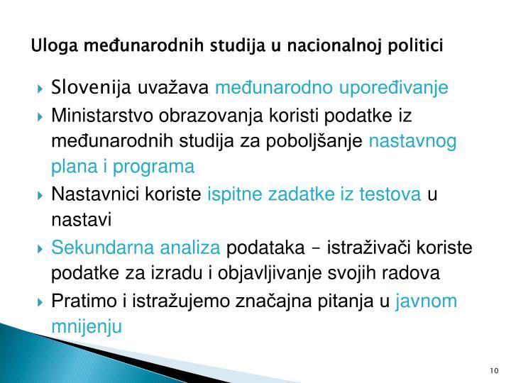 Uloga međunarodnih studija u nacionalnoj politici