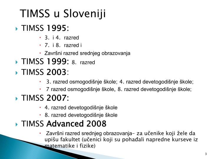 TIMSS u Sloveniji