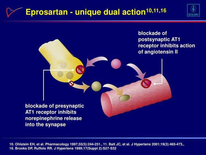 Eprosartan - unique dual action