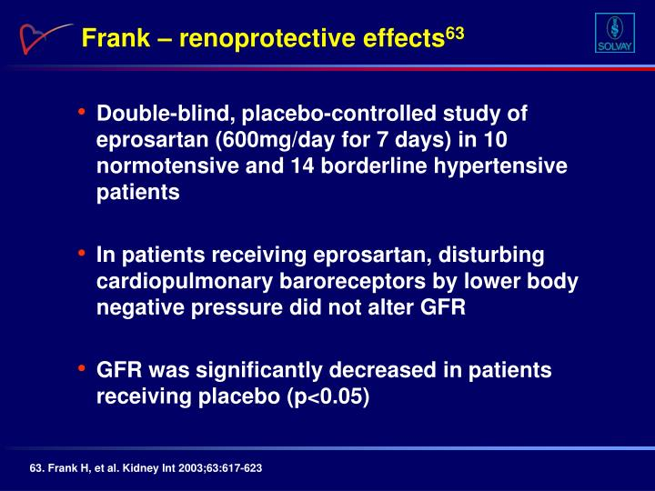 Frank – renoprotective effects