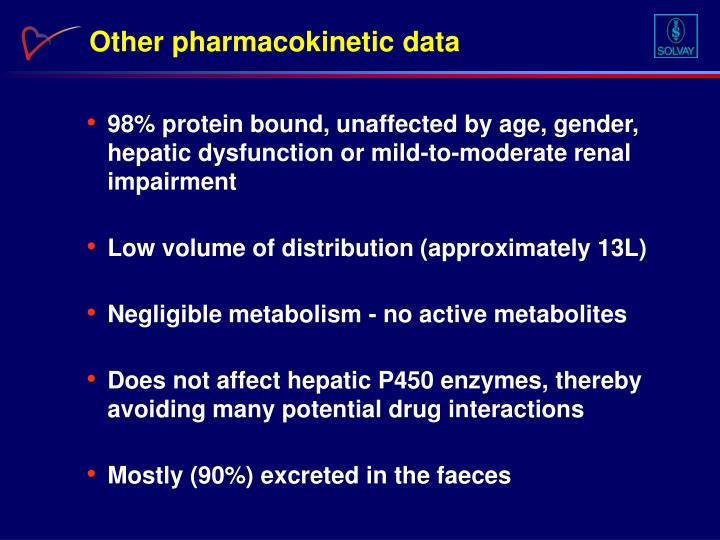 Other pharmacokinetic data