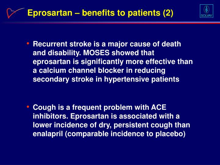 Eprosartan – benefits to patients (2)