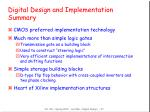digital design and implementation summary