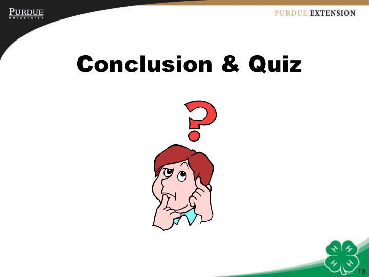 Conclusion & Quiz