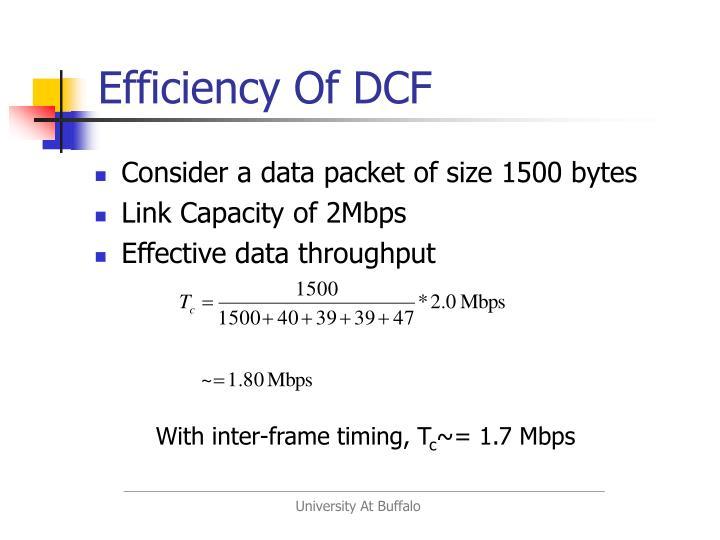 Efficiency Of DCF