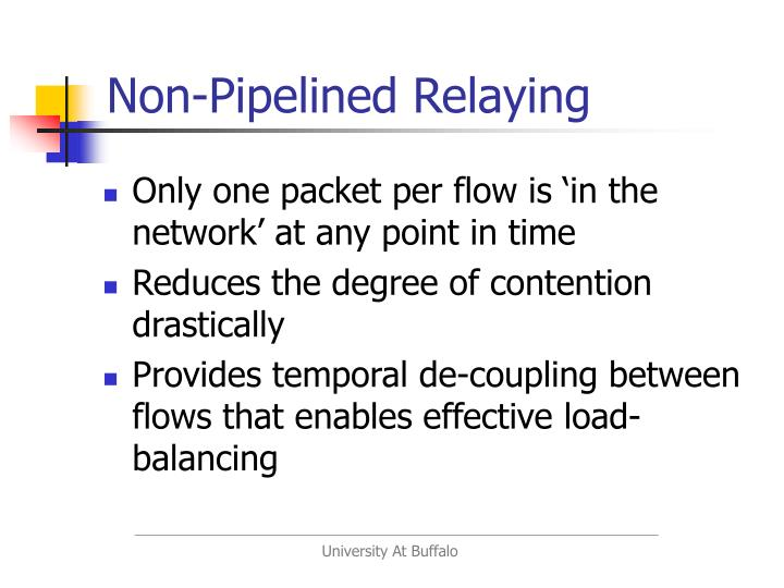 Non-Pipelined Relaying