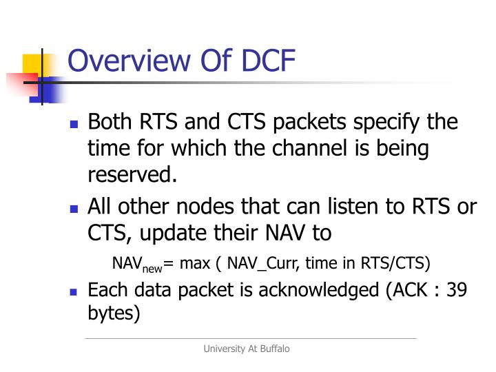 Overview Of DCF