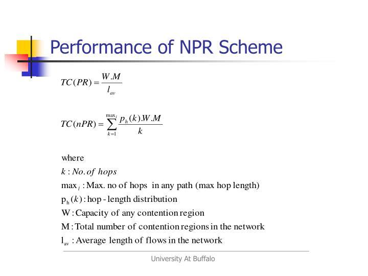 Performance of NPR Scheme