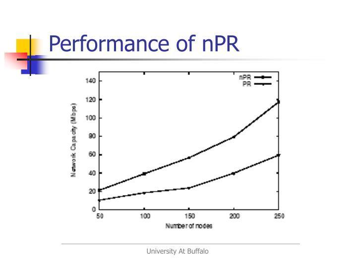 Performance of nPR