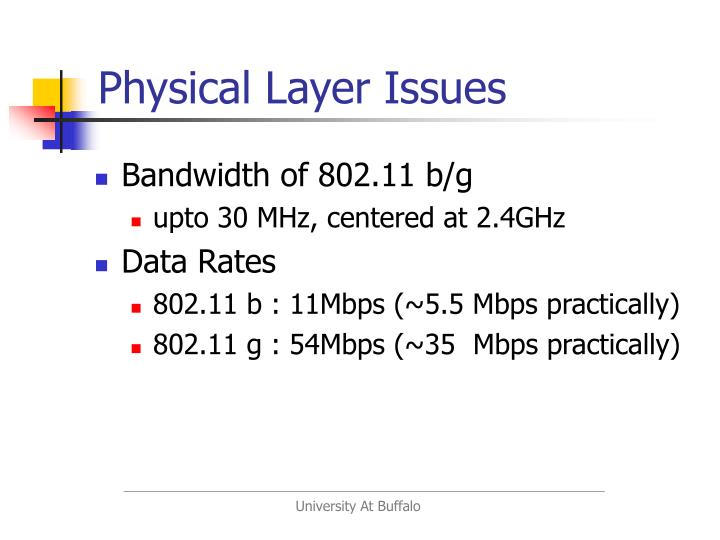 Physical Layer Issues
