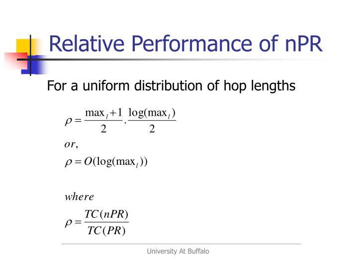 Relative Performance of nPR