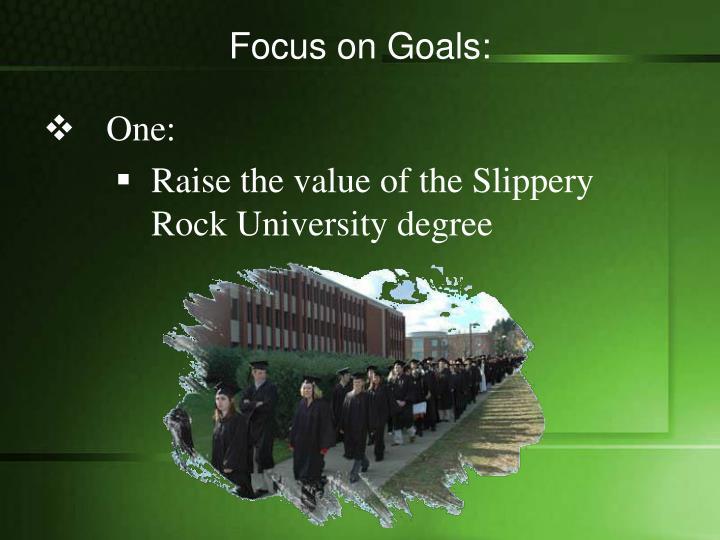 Focus on Goals: