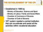 the establishment of the cpi