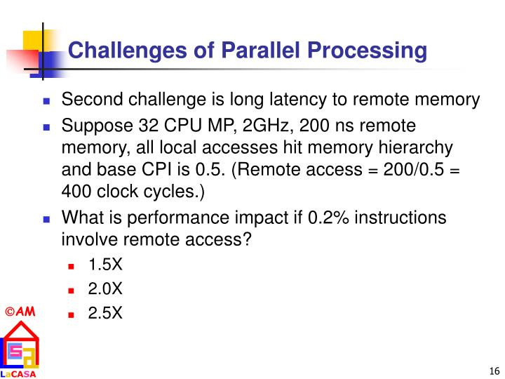 Challenges of Parallel Processing