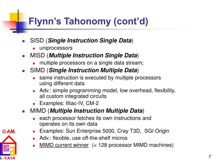 Flynn's Tahonomy (cont'd)