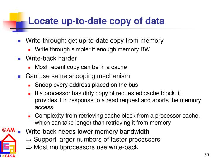 Locate up-to-date copy of data