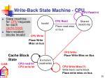 write back state machine cpu