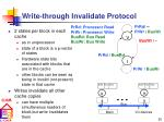write through invalidate protocol