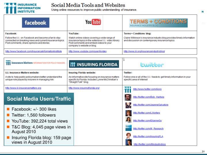 Social Media Users/Traffic