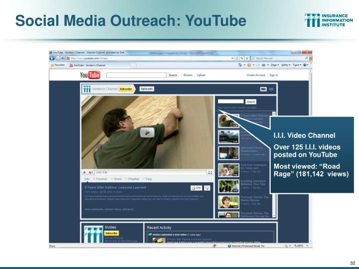 Social Media Outreach: YouTube