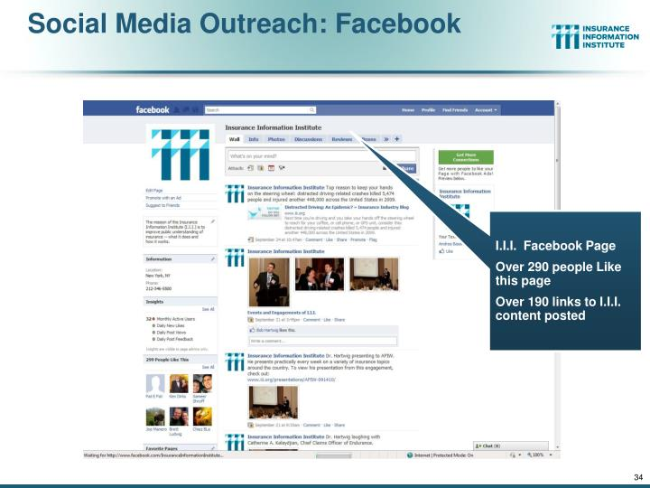 Social Media Outreach: Facebook