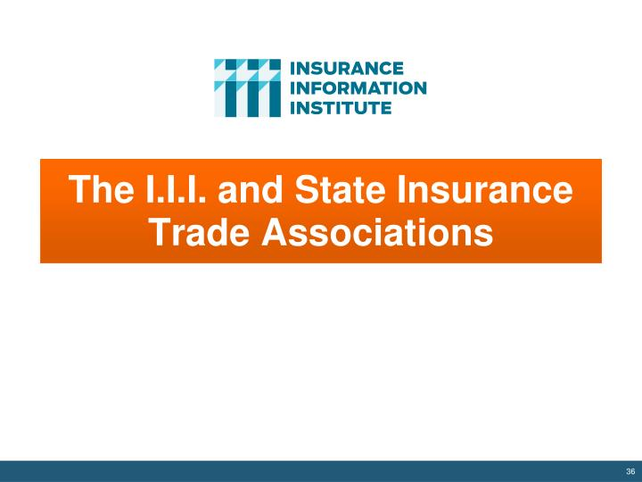 The I.I.I. and State Insurance Trade Associations