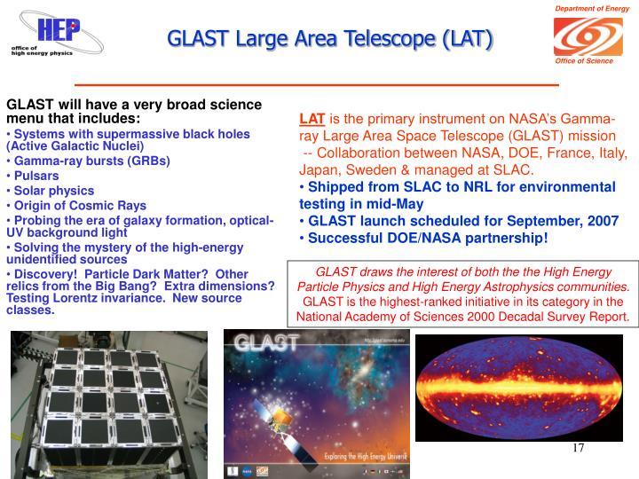 GLAST Large Area Telescope (LAT)