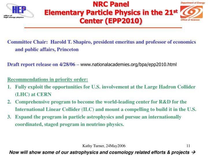 NRC Panel
