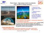 pierre auger high energy cosmic ray detector array w nsf foreign partners