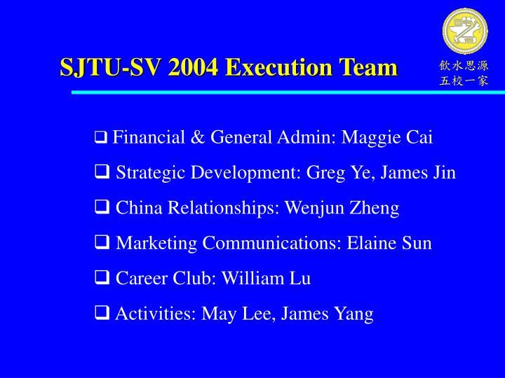 SJTU-SV 2004 Execution Team