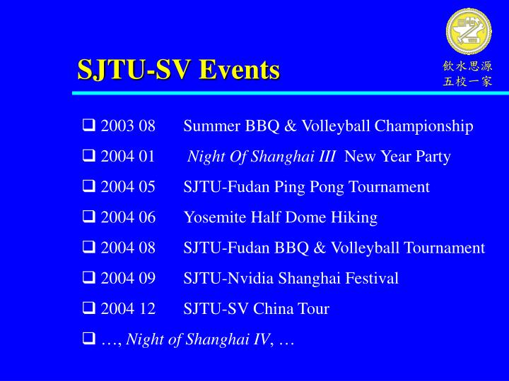 SJTU-SV Events