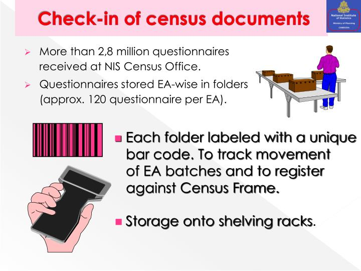 Check-in of census documents