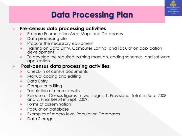 Data Processing Plan