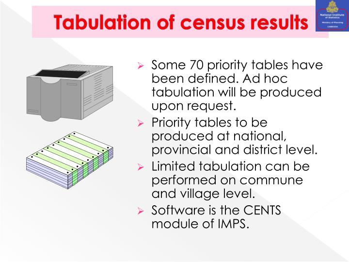 Tabulation of census results