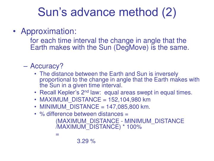 Sun's advance method (2)