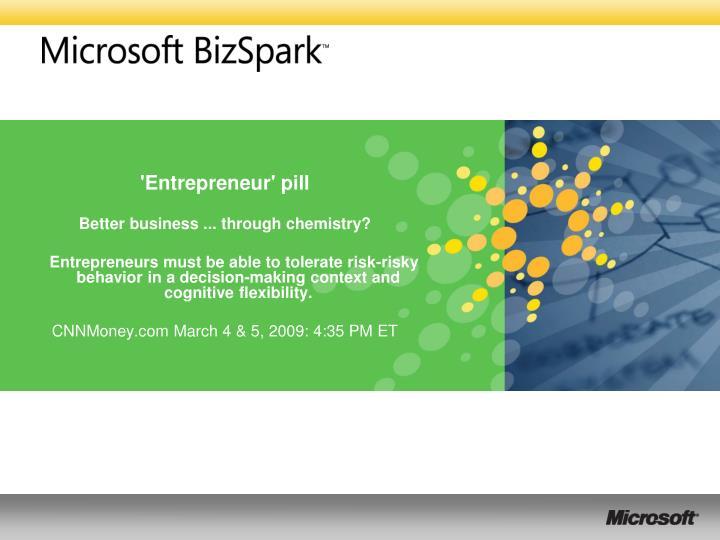 'Entrepreneur' pill