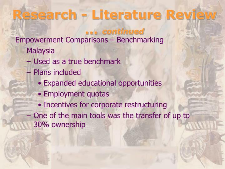 Research - Literature Review …