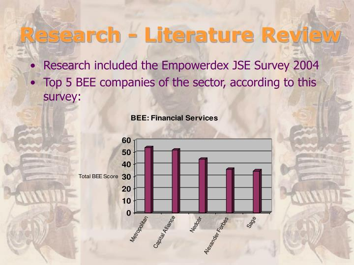 Research - Literature Review