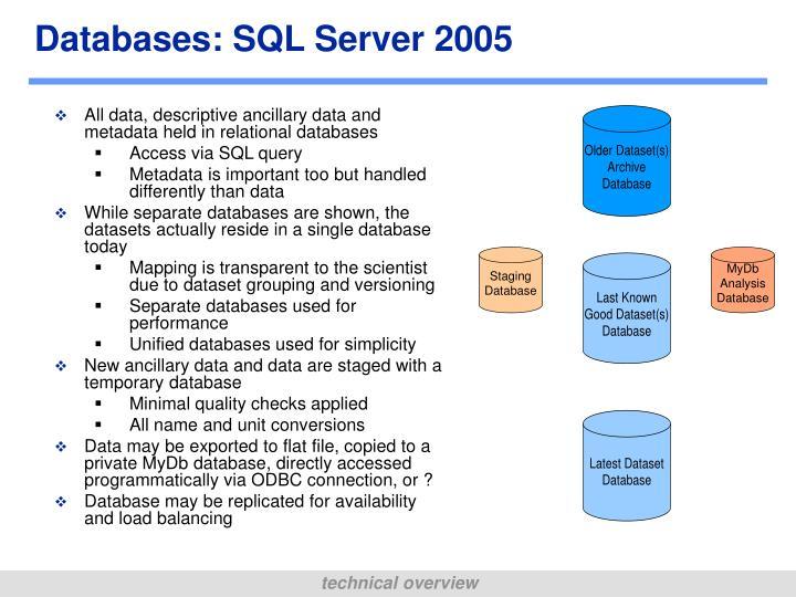 Databases: SQL Server 2005