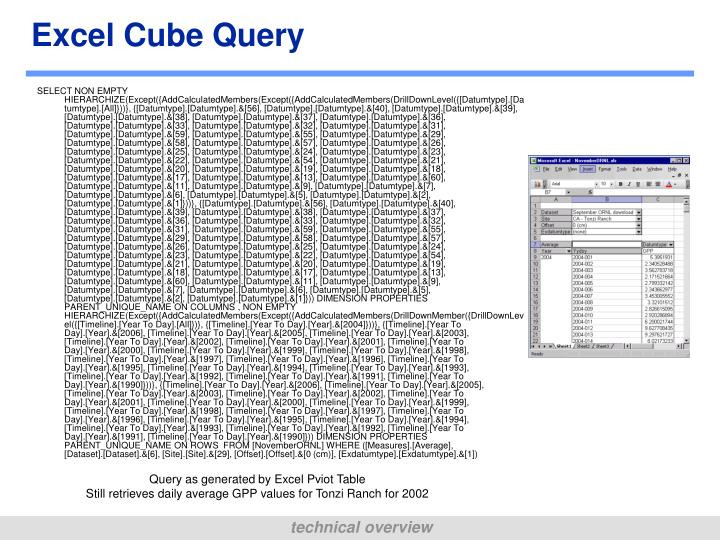 Excel Cube Query