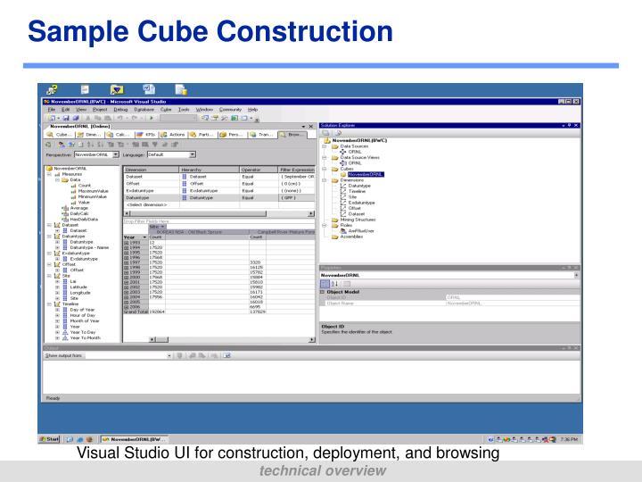 Sample Cube Construction