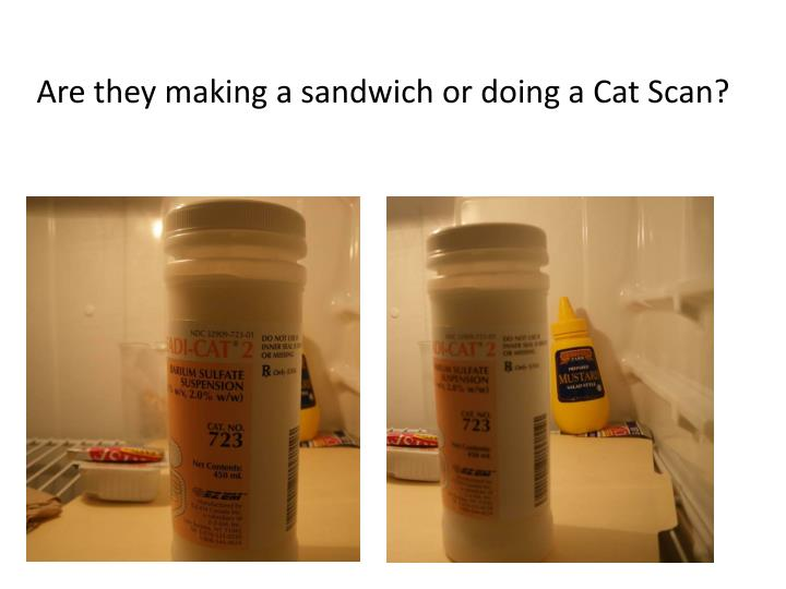 Are they making a sandwich or doing a Cat Scan?