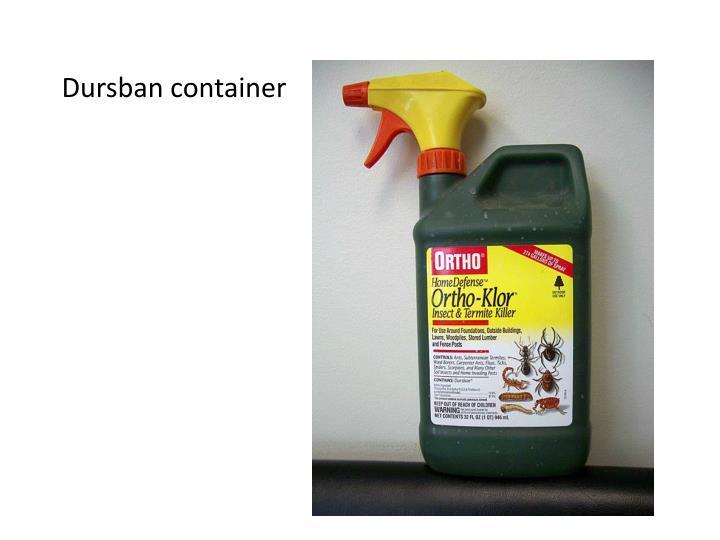 Dursban container
