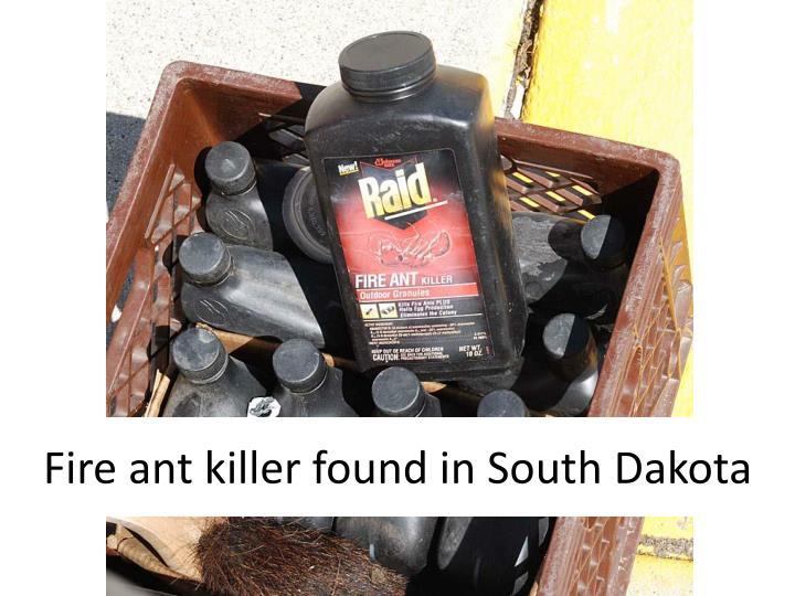Fire ant killer found in South Dakota