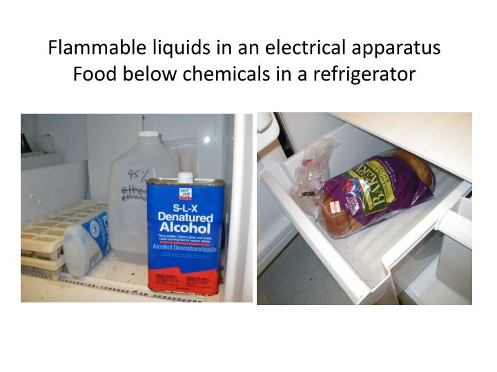 Flammable liquids in an electrical apparatus