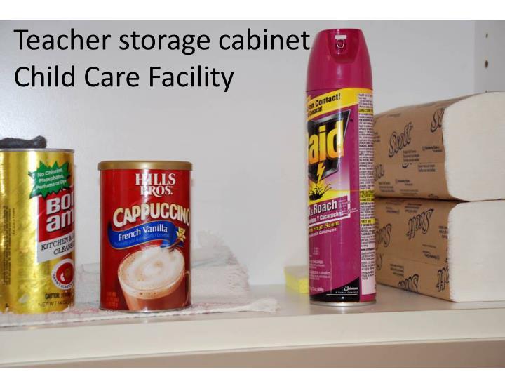 Teacher storage cabinet